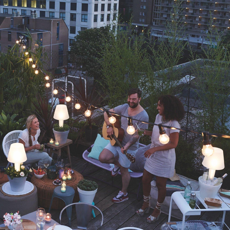 Pure Twilight Gartenbeleuchtung Blumentopf mit Lampe
