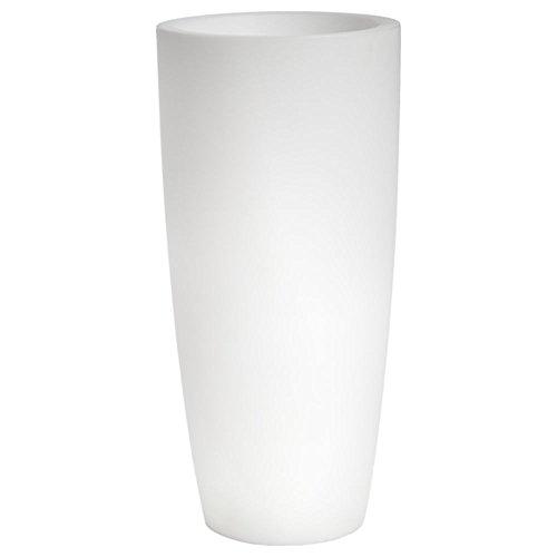 hydroflora 63005000 Nicoli LED-Leuchttopf Talos Light, Durchmesser 33 cm, Höhe 70 cm, ideal für den Außenbereich, kaltweiß - 1