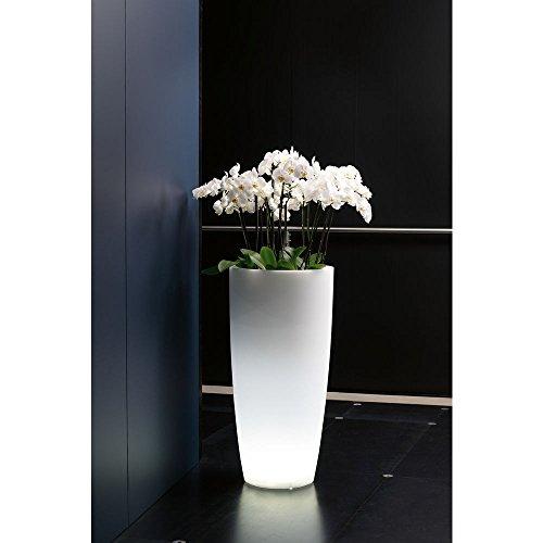 hydroflora 63005000 Nicoli LED-Leuchttopf Talos Light, Durchmesser 33 cm, Höhe 70 cm, ideal für den Außenbereich, kaltweiß - 2