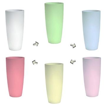 hydroflora 63005010 Nicoli LED-Leuchttopf Talos Light, Durchmesser 33 cm, Höhe 70 cm, mehrfarbig mit 13 Farben und 4 Programmen zur Farbtherapie - 7