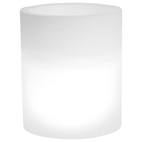 hydroflora 63005200 Nicoli LED-Leuchttopf Echo Light, Durchmesser 35 cm, Höhe 42 cm, kaltweiß - 1