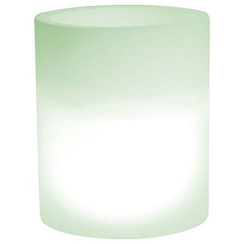 hydroflora 63005210 Nicoli LED-Leuchttopf Echo Light, Durchmesser 35 cm, Höhe 42 cm, mehrfarbig mit 13 Farben und 4 Programmen zur Farbtherapie - 2