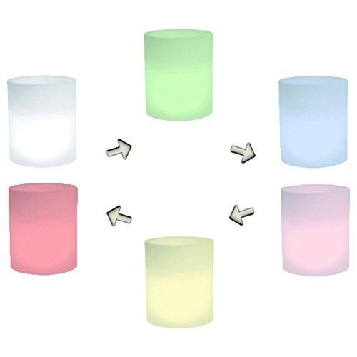 hydroflora 63005210 Nicoli LED-Leuchttopf Echo Light, Durchmesser 35 cm, Höhe 42 cm, mehrfarbig mit 13 Farben und 4 Programmen zur Farbtherapie - 3