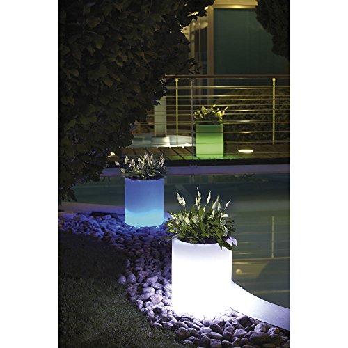 hydroflora 63005210 Nicoli LED-Leuchttopf Echo Light, Durchmesser 35 cm, Höhe 42 cm, mehrfarbig mit 13 Farben und 4 Programmen zur Farbtherapie - 4