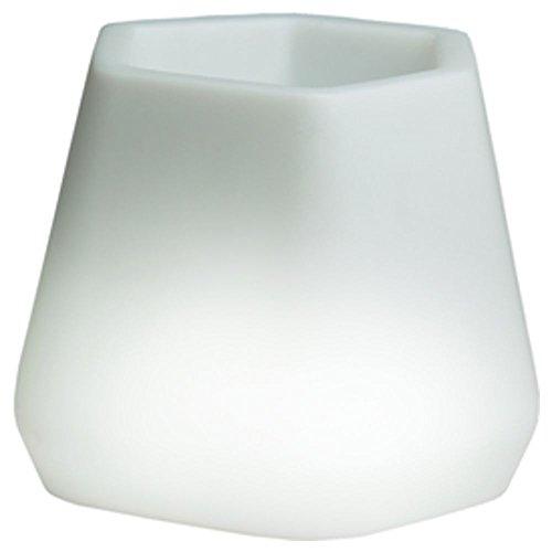 hydroflora 63005305 Nicoli LED-Leuchttopf OPS Small Light, 40 x 35 x 27 cm, warmweiß - 1