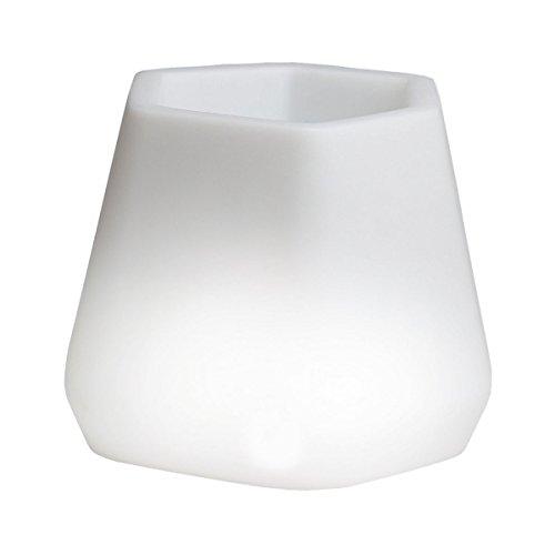 hydroflora 63005310 Nicoli LED-Leuchttopf OPS Small Light, 40 x 35 x 27 cm, mehrfarbig mit 13 Farben und 4 Programmen zur Farbtherapie - 1
