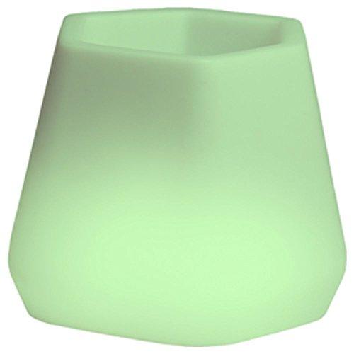hydroflora 63005310 Nicoli LED-Leuchttopf OPS Small Light, 40 x 35 x 27 cm, mehrfarbig mit 13 Farben und 4 Programmen zur Farbtherapie - 6