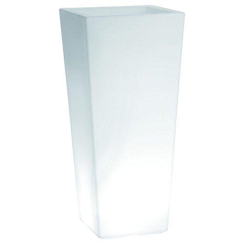 hydroflora 63005500 Nicoli LED-Leuchttopf Eros Light, 30 x 30 x 60 cm, kaltweiß - 1