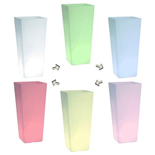 hydroflora 63005510 Nicoli LED-Leuchttopf Eros Light, 30 x 30 x 60 cm, mehrfarbig mit 13 Farben und 4 Programmen zur Farbtherapie - 7