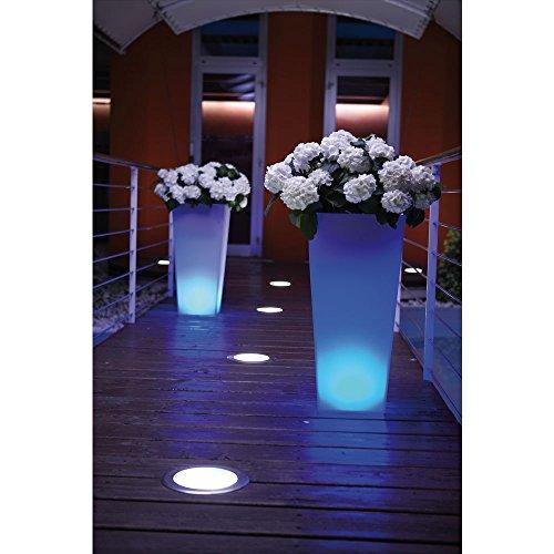 hydroflora 63005510 Nicoli LED-Leuchttopf Eros Light, 30 x 30 x 60 cm, mehrfarbig mit 13 Farben und 4 Programmen zur Farbtherapie - 8