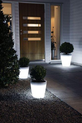 Assisi beleuchteter Pflanzentopf klein LED Gartendeko