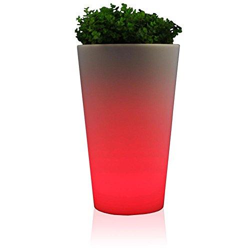 CONO LUZ 50 Blumenkübel Design Leuchte mit LED RGB beleuchtet