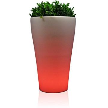 LED-Blumenkübel FLORA LUZ 80 , RGB beleuchtet rot