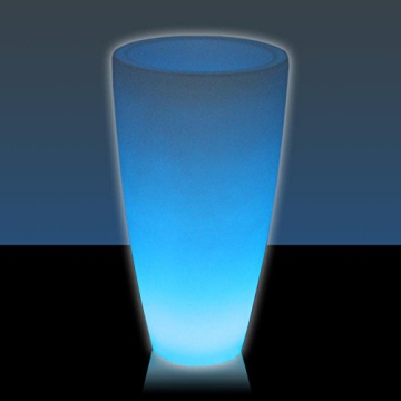 Leucht-Pflanzkübel TUBO LUZ 80, LED RGB beleuchtet