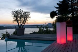 Beleuchteter Blumentopf Mambo - Designleuchten für Gastronomie