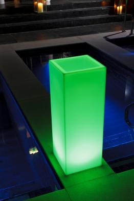 LED-Pflanztopf Mambo mit Farbwechsel