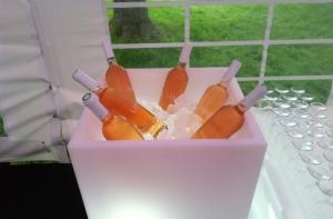 Leucht Pflanztopf Rumba als Flaschenkühler