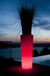 Hotel Spa Gastro Dekoleuchte Tange Pflanztopf LED