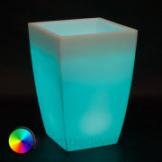 Lumenio eckiges beleuchtetes LED Pflanzgefäß
