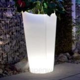 Pflanzgefäß Tulpe beleuchtet rund