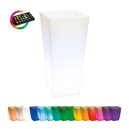 Pflanzgefäß-leuchtender-Pflanzkübel-Design-Leuchte-Fernbedienung