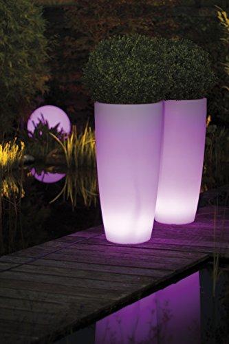 Lumenio LED Pflanztopf beleuchtet