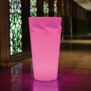 LED Pflanztopf Disco beleuchtet 50cm