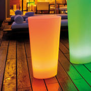 leuchtpflanzgefäß tango l rund mehrfarbig led beleuchtet