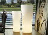 Leuchttopf Cono rund weiß lampe