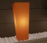 Pflanzkübel beleuchtet orange eckig moro