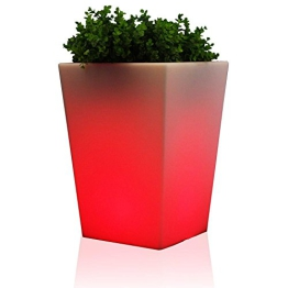 leucht-pflanzkübel blumentopf mehrfarbig