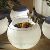 Tischplatte für beleuchtetes Pflanzgefäß Epstein Designtisch