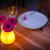 Gastronomie Leuchtvase Olio gelb mit Blume