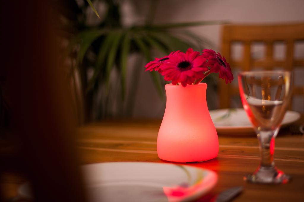 Gastronomie Tischdeko OLIO rot mit Blume