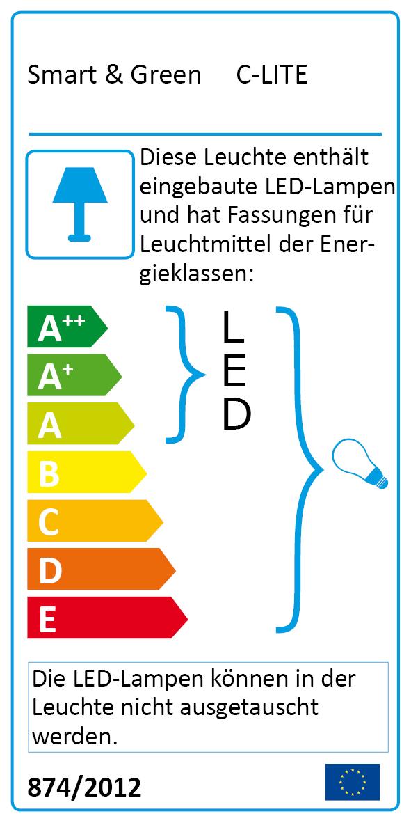 Eco-Label C-Lite Leuchteinheit für Pflanzgefäße
