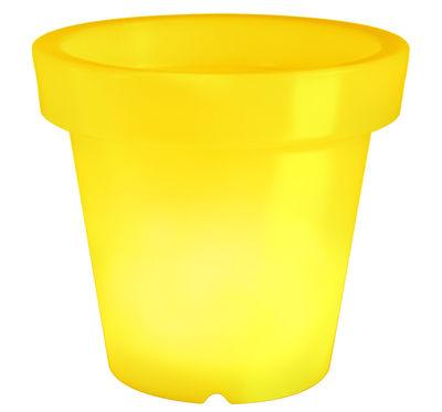beleuchteter blumentopf leuchtender blumentopf 40 cm gelb bloom finden auf leuchttopf. Black Bedroom Furniture Sets. Home Design Ideas