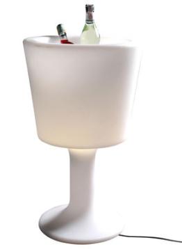 Beleuchteter Flaschenhalter Sektkühler
