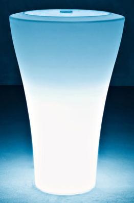 Ming beleuchteter Blumentopf extra high 140 cm