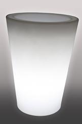 Designleuchte Blumentopf Pflanzkübel beleuchtet weiss 50cm