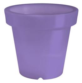Violett leuchtender Blumentopf Bloom Dekoleuchte