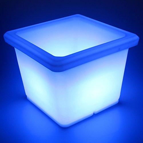 LED Blumentopf eckig beleuchtet mit Farbwechsel