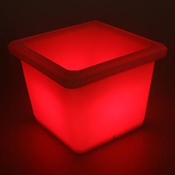 LED Blumentopf eckig mit Farbwechsel beleuchtet