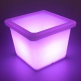 LED Blumentopf eckig mit Farbwechsel