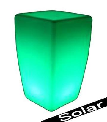 Solar Blumentopf mehrfarbig