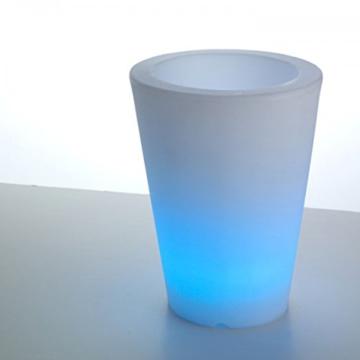 led beleuchteter blumentopf pflanzkübel blau