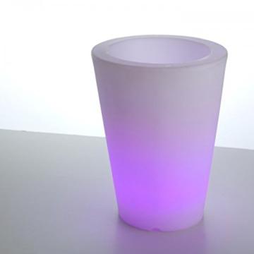 led beleuchteter blumentopf pflanzkübel violett