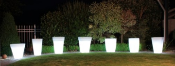 8 seasons design beleuchteter pflanztopf shining Pot