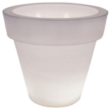Vas-Three Light leuchtender Blumentopf - Serralunga - Weiß